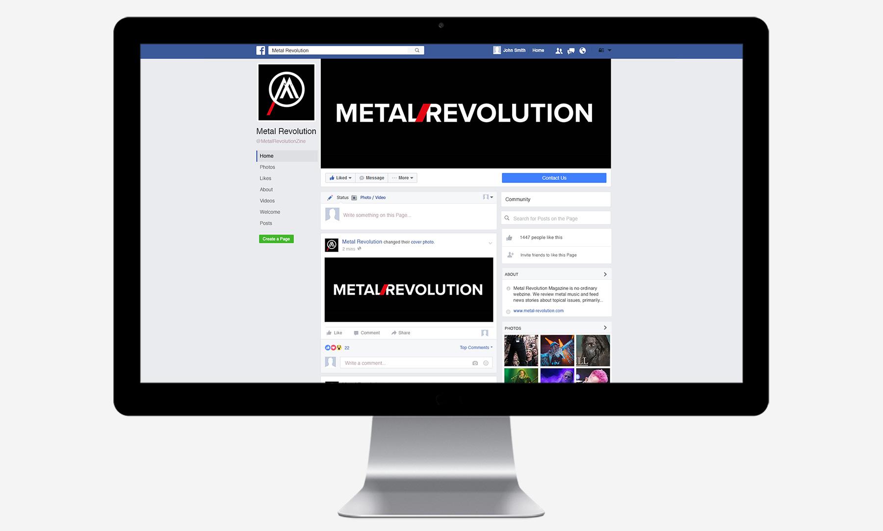 Metal Revolution: Facebook