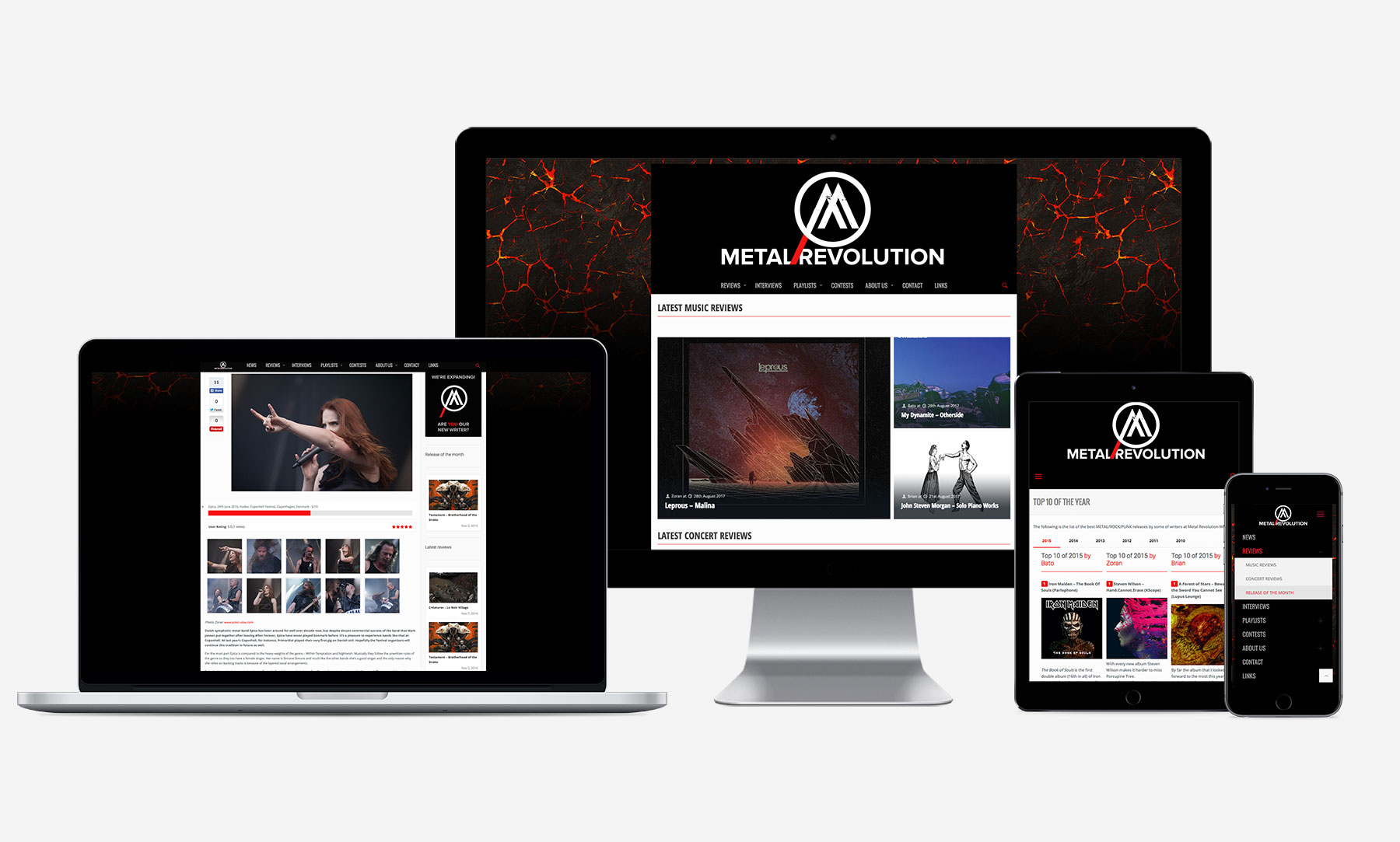 Metal Revolution: Web range
