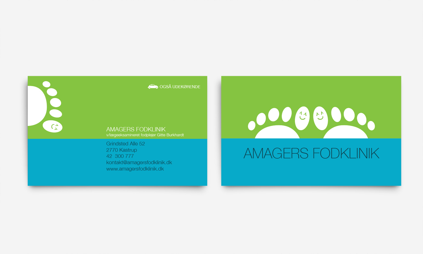 Amagers Fodklinik: Business cards