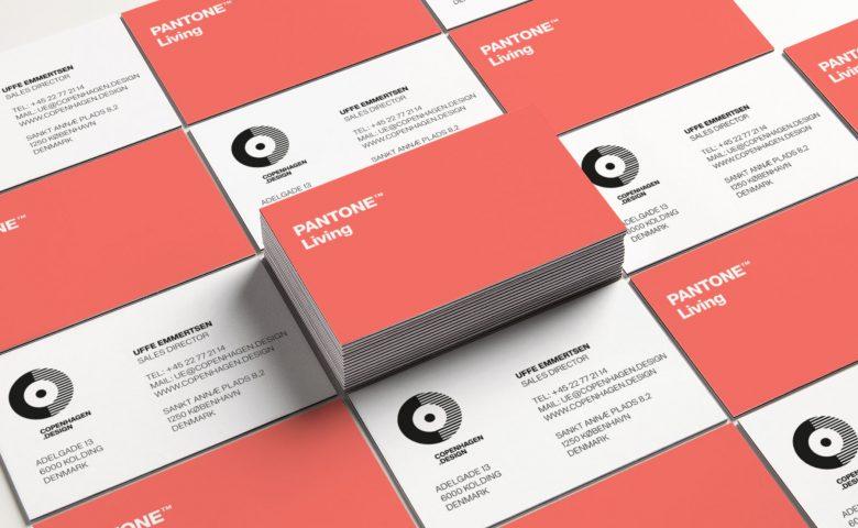 PANTONE Living business card by Copenhagen Living